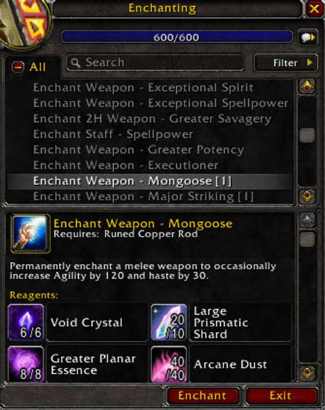 Wow Enchanting Mats enchanting guide awesome profits with the mongoose