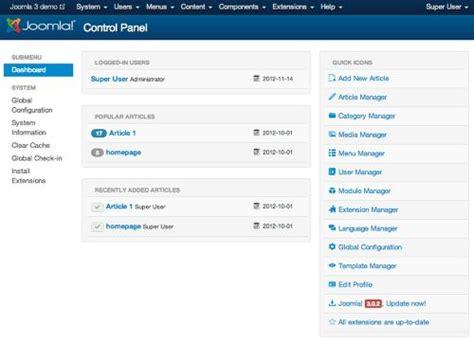 template admin panel joomla panel template images
