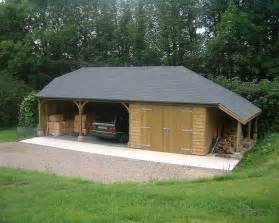 Enclosed Car Port by Two Open Carports 1 Enclosed Garage Bitumen Felt Slate