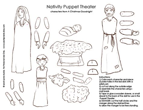 printable nativity scene puppets christmas goodnight activities giveaway sarah jane