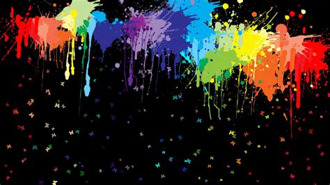 paint colorful colorful paint splashes wallpaper 131