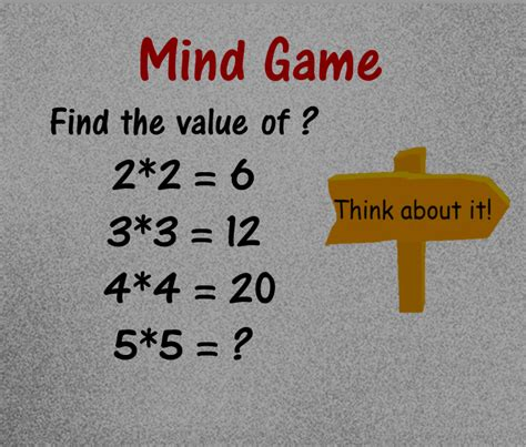Gamis Mint mind logic math puzzles images with answers