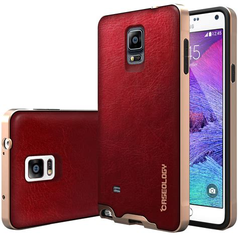 Leather Sliding Samsung Galaxy Note 4 Bumper Back Cover Casing Hp caseology 174 envoy pu leather back tpu cover for samsung galaxy note 4 ebay