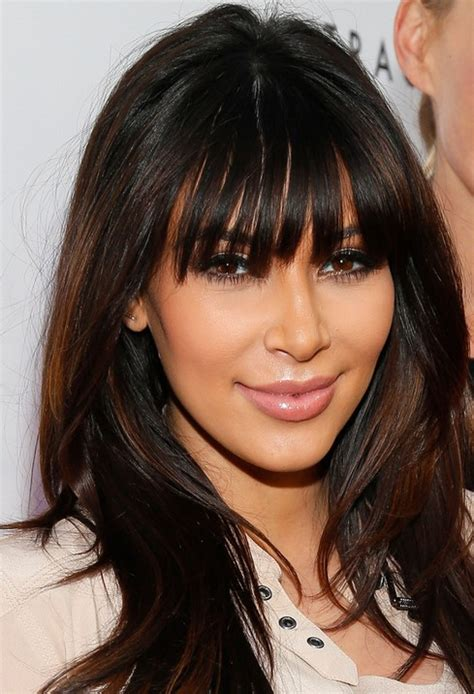 haircuts blunt bangs kim kardashian haircuts 2014 long hairstyles for blunt
