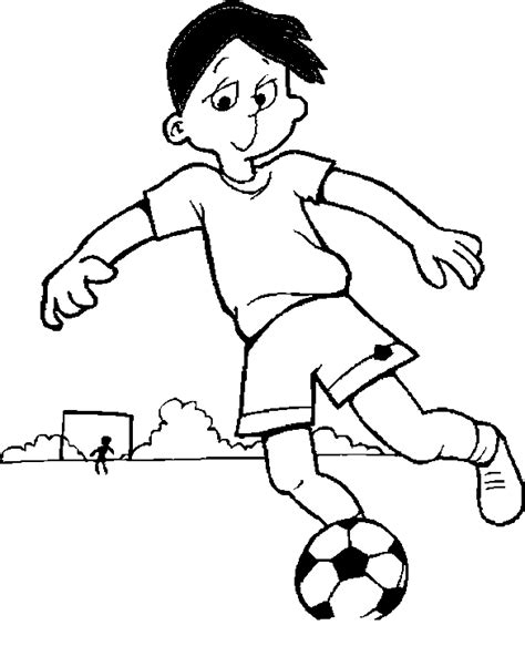 free football goalkeeper coloring pages