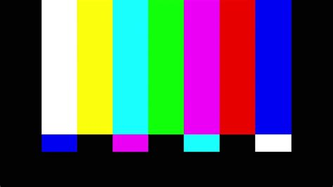 screen color broadcast television color bars smpte calibration tv test
