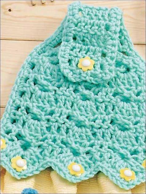 Pretty towel topper free easy pattern crochet pinterest
