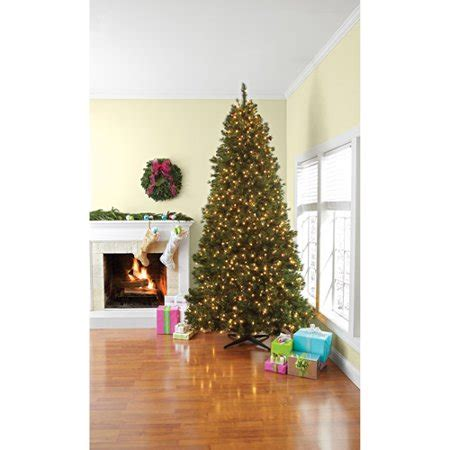 better homes and gardens pre lit 9 lakeview pine artificial tree with pine cone