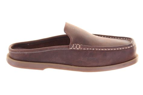 mens boat shoes size 15 chatham cirrus brown mule leather slip on deck boat shoe
