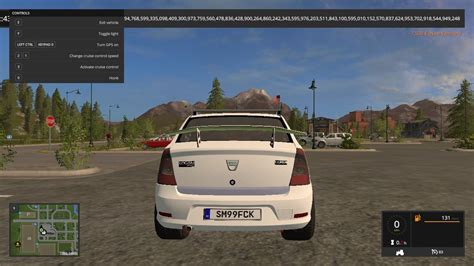 dacia logan v1 car ls17 farming simulator 17 mod fs