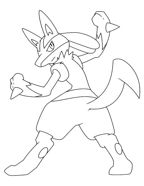 pokemon lucario coloring pages printable coloring pages