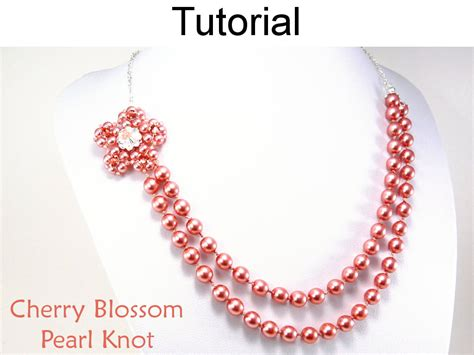 beading tutorial pattern necklace pearl knot jewelry