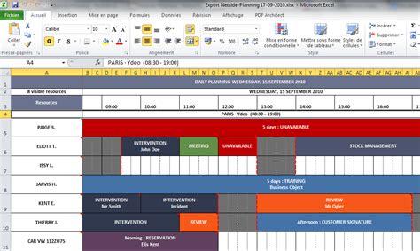Calendrier Journalier Excel Modele Planning Journalier Excel Ccmr