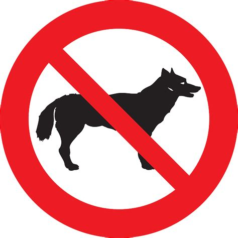 Stiker Sign Dilarang Membawa Hewan Peliharaan free vector graphic dogs pet animal forbidden free