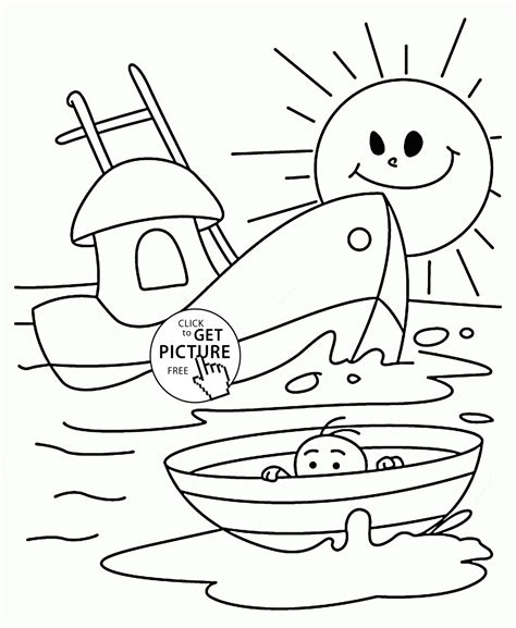 boat coloring pages for toddlers small boats coloring page for kids transportation