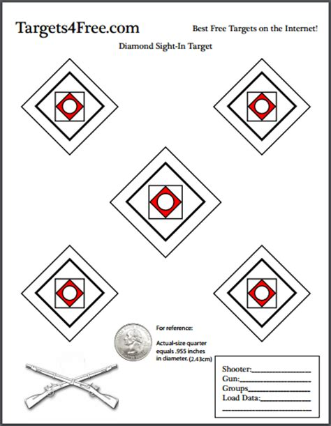 printable diamond targets sight in targets archives targets4free