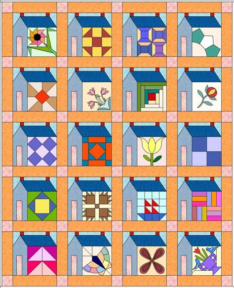 quilt pattern houses 261 best house quilts images on pinterest