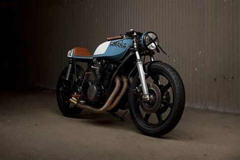 the beautiful yamaha xs750 cafe racer by motorbikes