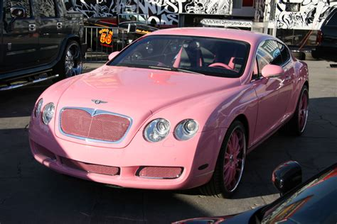 big bentley car think pretty n pink the fab five pink cars