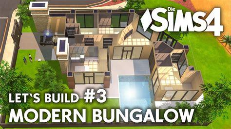sims 3 haus bauplan die sims 4 haus bauen modern bungalow 3 let s build