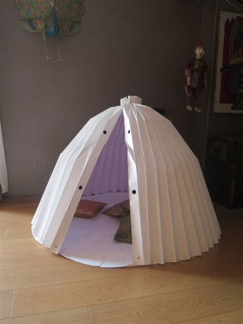 Origami Tent - origami playhouse play fort modern and playhouses