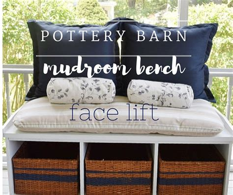 pottery barn shoe bench pottery barn mudroom bench re purpose project gratefully