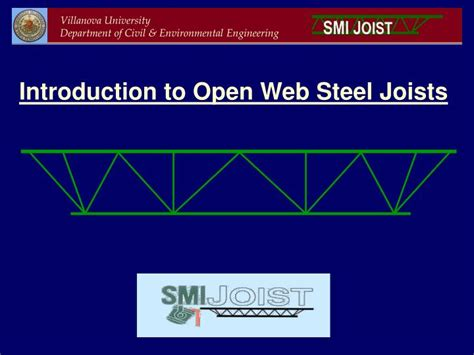 open web ppt introduction to open web steel joists powerpoint