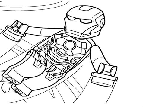 lego ironman free colouring pages
