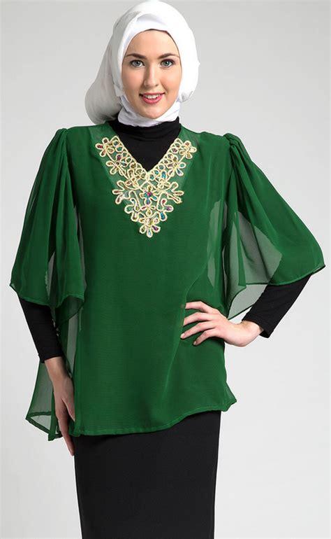 Baju Muslim 2015 10 contoh trend model baju muslim kaftan terbaru 2015
