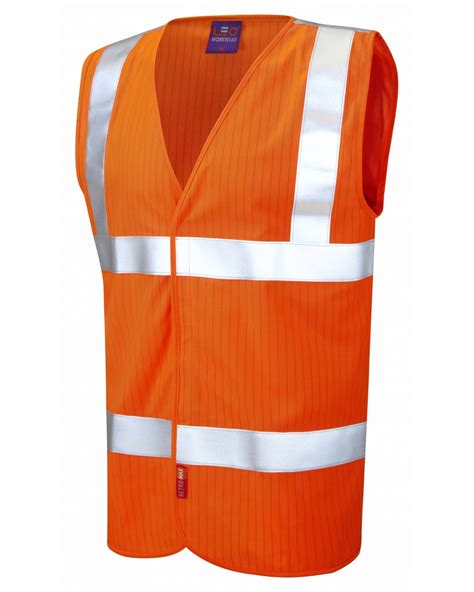 Vest Casing Anti Radiasi iso 20471 class 2 lfs anti static waistcoat orange