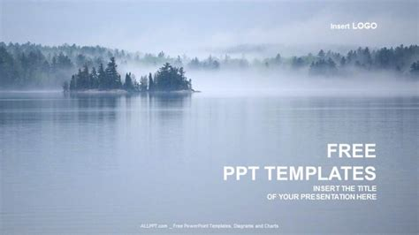 beautiful lake view nature ppt templates