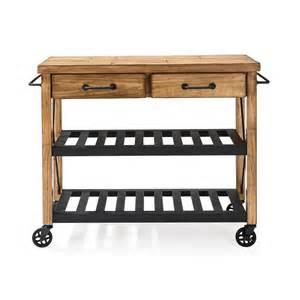 Furniture roots rack industrial kitchen cart in pine efurniture mart