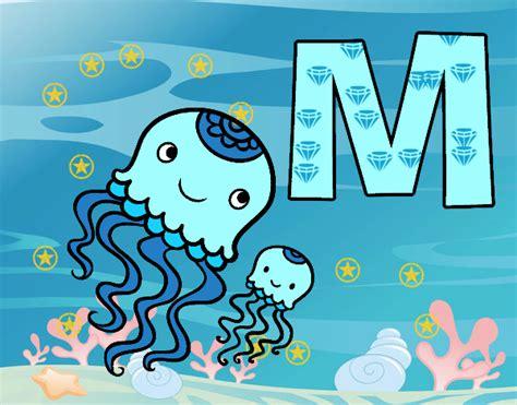 desenho de letra m pintado desenho de m de medusa pintado e colorido por usu 225 n 227 o registrado o dia 09 de janeiro do 2016
