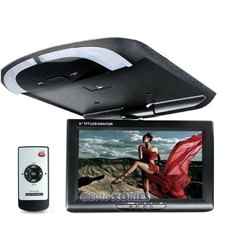 ceiling mount car dvd player 9 quot in car overhead ceiling roof mount monitor for dvd