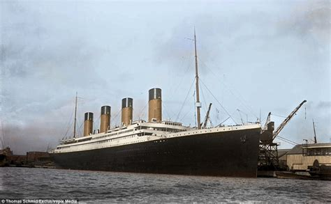 titanic boat real colourised images show the luxury aboard the titanic