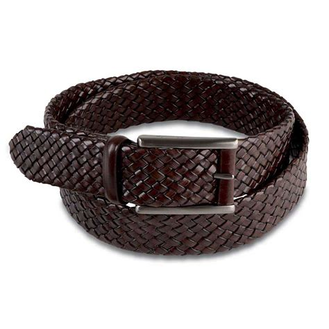 pineider 1774 leather woven belt