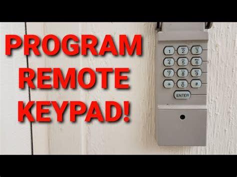 program keypad  craftsman garage door remote