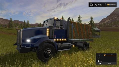 kenworth truck bedding kenworth flatbed v1 fs 2017 farming simulator 2017 mod