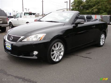 lexus 2010 black obsidian black 2010 lexus is 250c convertible exterior