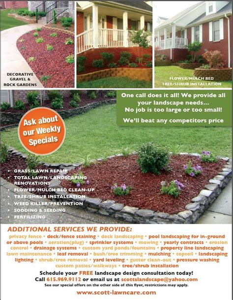 lawn care advertising flyers lovely lawn care advertising ideas zoro