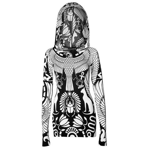 Mini Dress Volture womens black kill vulture hooded occult