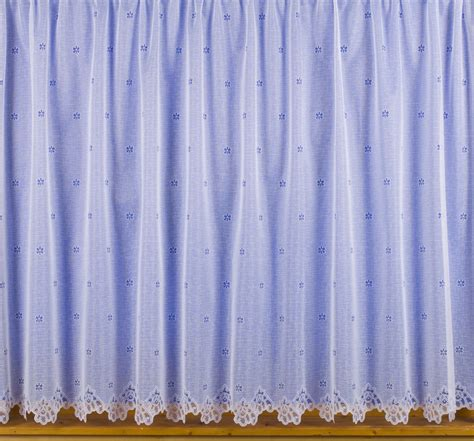 Small Net Curtains small flower net curtains white choose drop sizes cut by
