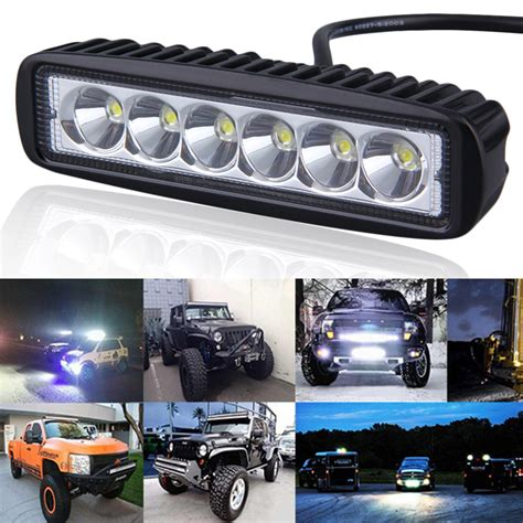 4x4 Led Light Bars 6 Inch Mini 18w Led Light Bar 12v 24v Motorcycle Led Bar Offroad 4x4 Atv Daytime Running Lights