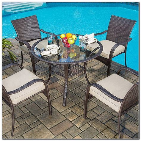 mainstays wicker 5 patio dining set seats 4 mainstays wicker 5 patio dining set seats 4 june 2018