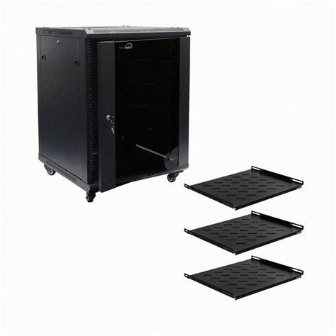 Wall Mount Audio Rack by 15u Wall Mount Audio A V Rack Cabinet Glass Door