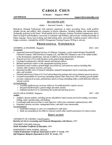 chronological resume format for experienced it professionals sle chronological resume