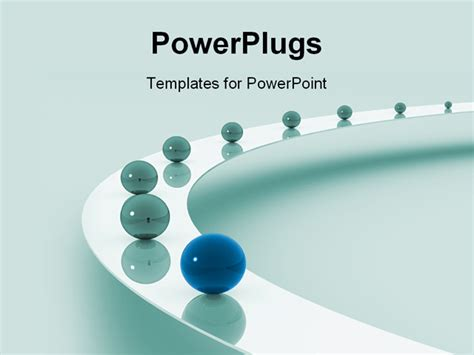 templates powerpoint leadership powerpoint template leadership as a metaphor with marbles
