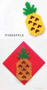 Pineapple hama bead pattern crossstitch design mypoppet com au