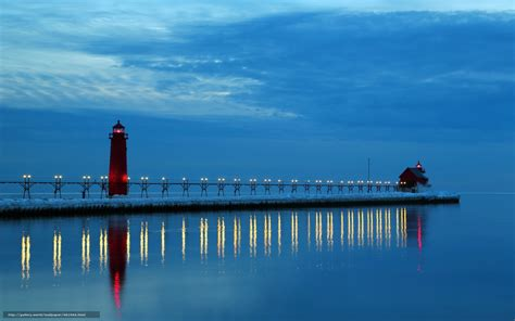 lake point collection l desk michigan lighthouses desktop wallpaper wallpapersafari