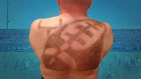 cutting pubic hair photos man s elaborate back hair turns into artistic